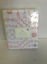 Pottery Barn Kids Sweet Flower Flocked Blackout Drapes Panels Curtains 44X63 PNK