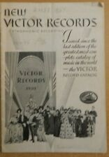 vintage New Victor Records Magazine 1930