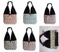 Schultertasche Beutel Tasche Handtasche Baumwolle Thai Elefant en Hippie Retro