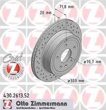 Disque de frein arriere ZIMMERMANN PERCE 430.2613.52 CHEVROLET CAPTIVA 2.0 D 4WD
