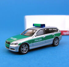 Herpa h0 046923 BMW 3er touring polizia Argento Verde OVP ho 1:87 BOX