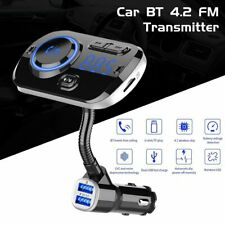Car Bluetooth FM Transmitter Wireless Radio Adapter QC3.0 Dual USB Ports AUX TF