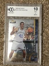 1998 98 TOPPS FINEST DIRK NOWITZKI BCCG GRADED 10 MINT RC ROOKIE CARD WOW! NR