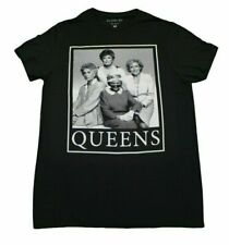 THE GOLDEN GIRLS QUEENS T-SHIRT MENS BLACK RETRO TV SHOW FUNNY GRAPHIC TEE