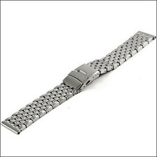 Vollmer Brushed Stainless Steel Watch Bracelet, deployant clasp #09150H7 (20mm)