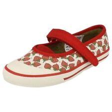 Chaussures rouge avec attache auto-agrippant pour fille de 2 à 16 ans