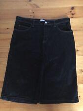 Calvin Klein Black Denim Jean Skirt Size W31