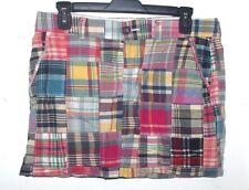 Old Navy Multi-Color Madras Plaid Patchwork Skirt 6