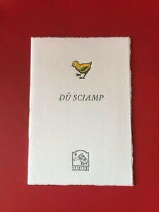 """Casiraghi Alberto """"Du sciamp"""" Pulcinoelefante, 2003 libri d'artista"""