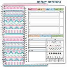 Diet Food Diary WEIGHT WATCHERS Planner Tracker Log Book Journal- Aztec Cover