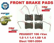 FOR PEUGEOT 106 +Van 1.0 1.1 1.4 1.5D 1.6 Elect 1991-2004 FRONT BRAKE PADS SET