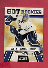 2010-11 SCORE # 514 DUSTIN TOKARSKI HOT ROOKIE CARD