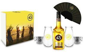 Licor 43 Geschenkset Cuarenta y Tres 0,7l (31% Vol) + 2x Milch Flasche/ Gläser