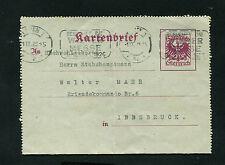 Österreich Kartenbrief K63b  gelaufen 1926   (AuK)