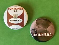 2x FONTAINES D.C. Pin Badges 25mm Dogrel