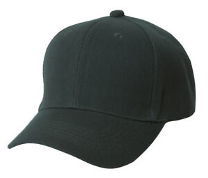 Plain Fitted Hat - Black