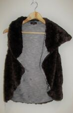 GABRIELLA FRATTINI Faux Fur Vest Sleeveless Jacket Size 6 Small S
