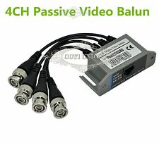 2PACK CAT5 UTP 4 CH Passive Video Balun Transceive BNC Video Balun to UTP RJ45