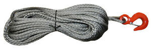12mm Dyneema SK75 Synthetic 12-Strand Winch Rope x 30m With Hook Off Road ATV