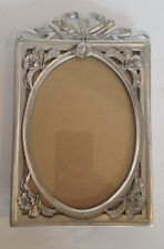 Vintage Seagull Fine Pewter Picture Photo Frame Wedding Bells 1990 Canada Silver