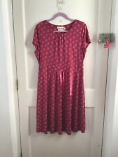 Seasalt The Carnmoggas Bamboo Jersey Dress Speckle Spot Freesia Size 16 Uk