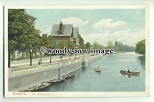 tp9286 - Beds - Row Boats off the Embankment, on River Ouse, Bedford - Postcard