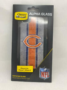 OtterBox NFL Alpha Glass Screen Protector for iPhone 8/7/6s/6 - Chicago Bears