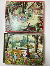 vintage disney snow white cube puzzle boxed original 1940s