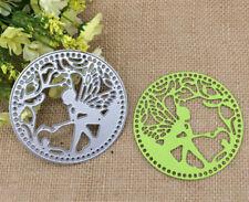 Hot Round Flower Fairy Metal Cutting Dies Stencil Scrapbooking Card Paper DIY