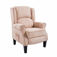 Heated Vibrating Massage Sofa Recliner Armchair w/ Remote Control Suede