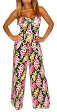 ASOS Floral Jumpsuit Black Pink Playsuit Romper Festival Palazzo Pant Wide Leg 8
