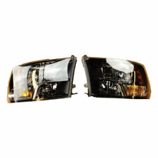 🔥 Mopar NEW Set Of Black Bezel Halogen Headlights for Ram 1500 2500 3500 🔥