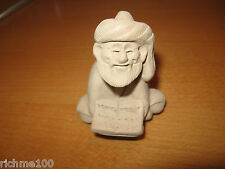 Arab Muslim Islamic Imam Old Man Clay Figurine Hand Made Sculpture Doll Folk Art