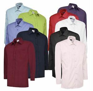 UNEEK UC709 Mens Poplin Shirt Full Sleeve Office Work Casual Uniform Dress Shirt