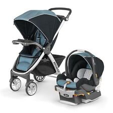 Chicco Bravo Quick-Fold Trio 3-in-1 Baby Travel System Stroller with KeyFit 30