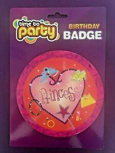 Birthday Girl/Princess Badge Girl Small Children Party Gift Present