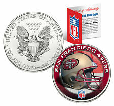 SAN FRANCISCO 49ERS 1 Oz American Silver Eagle $1 US Coin Colorized NFL LICENSED