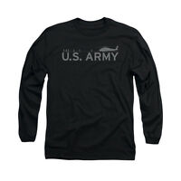 US ARMY HELICOPTER Licensed Adult Men's Graphic Long Sleeve Tee Shirt SM-3XL
