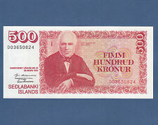 ISLAND / ICELAND  500 Kronur L.1961 (1981) Sig.48 UNC  P. 51