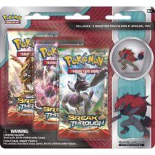 Pokemon XY Breakthrough Card Booster BLISTER 3-pack With Zoroark Pin TCG