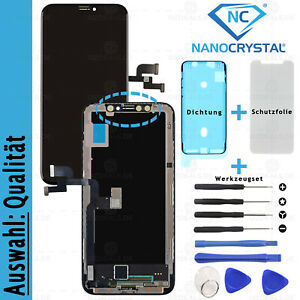 iPhone X Display LCD X / 10 OLED RETINA 3D Glas Touch Screen Bildschirm AUSWAHL*