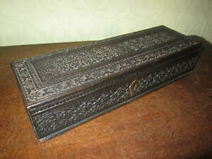 An Anglo Indian chip carved box