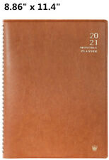 Faux Leather 2021 Agenda Planner Organizer Monthly Calendar Tabs Schedule Book