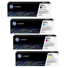 Genuine HP 201X LaserJet 4 Toner Set CF400X CF401X CF402X CF403X  OEM SEALED