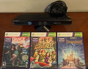 OEM Microsoft Xbox 360 Kinect 1414 Sensor w/ Stand - Black - 3 Games Included!