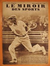 Miroir des Sports N° 801-4/12/1934-Tennis-Le Californien Vines a étonné le monde