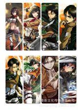 8pcs/set PVC Bookmarks of Attack On Titan book mark A