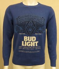 Men'S Bud Light Embroidered Beer Sweater Size Sm Lite Dilly Dilly Beautiful!