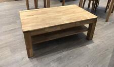 Couchtisch Wohnzimmer Tisch mit Schubkasten Eiche Massiv geölt 115 x 70cm NEU