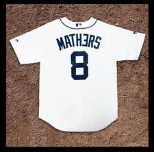 Eminem X Detroit Tigers 2018 Home Jersey MEDIUM Majestic Authentic MLB MATHERS